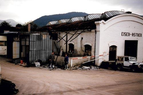 Eisen Astner - Unser Firmengelände im Jahr 1986
