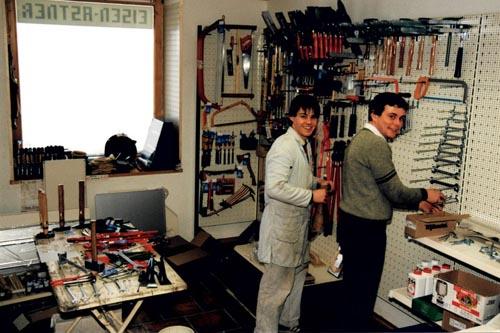 Eisen Astner - Ladenverkauf im Jahr 1988