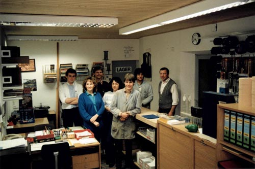 Eisen Astner - Anbau und Überdachung der neuen Lagerhalle 1988